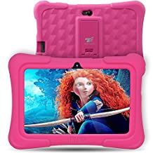 Dragon Touch Kids Tablet 7 inch Kidoz Pre installed with Bonus Disney Games App and Audio Book -- GMS Certified-Pink