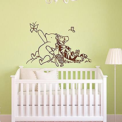 Amazon.com: Sold By A Good Decals USA Decal Winnie The Pooh Nursery Decor    Classic Winnie The Pooh, Tigger And Piglet Graphics Vinyl Wall Decal Kids  Room ...