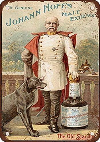 1897 Johann Hoffs Malta Extracto Vintage Look Reproducción Metal ...