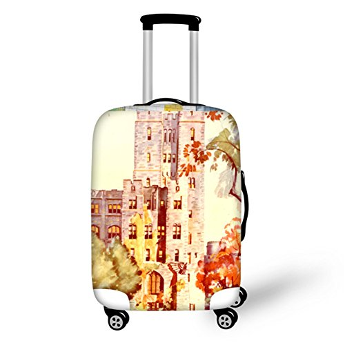 HUGS IDEA Retro Luggage Protective Covers Travel Suitcase Protector for 26/28/30 Inch