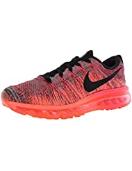 NIKE Flyknit Air Max 620659-601 Hyper Punch/Black/Bright Mango/Jade Womens Shoes