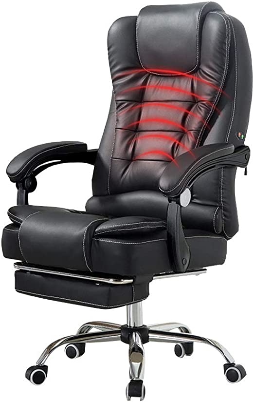Silla de Oficina Silla PC Racing Silla reclinable Cintura Masaje ...