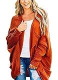 JOYCHEER Womens Oversized Cardigans Boyfriend Open Front Dolman Sweaters with Pockets