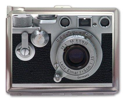Credit Card Cigarette Case Wallet (Vintage Retro Camera Cigarette Case Lighter or Wallet Business Card Holder)