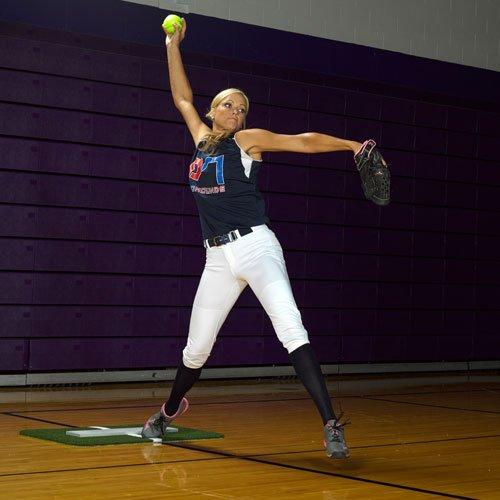 ProMounds Jennie Finch Softball Pitching Mini-Mat w/Powerline by ProMounds