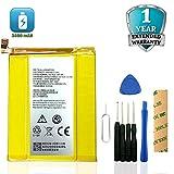 for MetroPCS ZTE ZMax Pro Z981 Replacement Battery Li3934T44P8H876744 Adhesive Tool (Yellow)