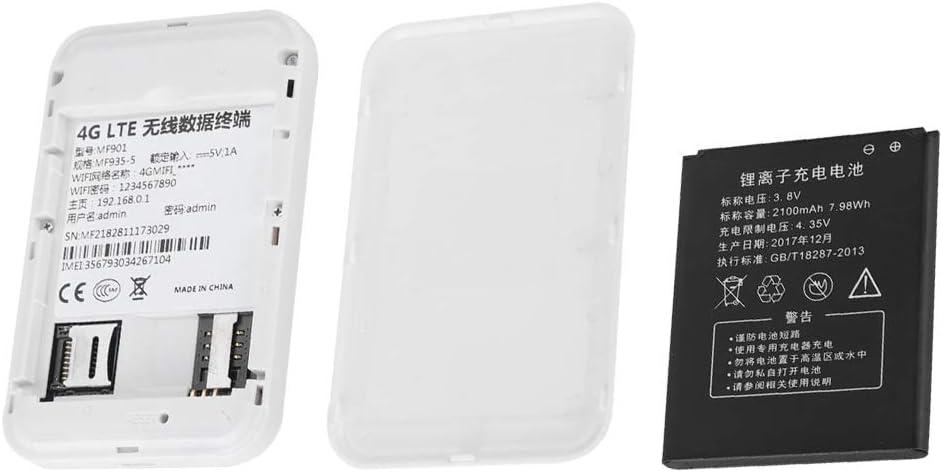 Mini Stable MF901 4G LTE WiFi Box Wireless Network Card WiFi Portable Wireless Router//Card White USB Charging Taidda Portable WiFi