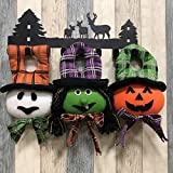 Halloween Hanging Decor Dolls, Aitey Halloween Party Supplies Favors Pumpkin, Witch, Ghost Doll for Home Yard Patio Lawn Garden Ornaments 3 Pack