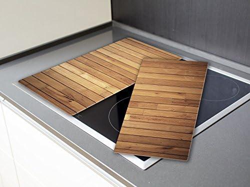 Ceranfeldabdeckung Holz Optik Maserung HA170977367 Herdabdeckplatte