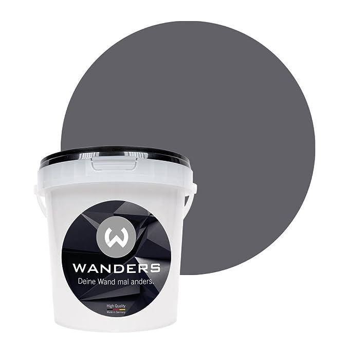 Wanders24 Tafelfarbe (1Liter, Graphitgrau) matte Wandfarbe in 20 Farbtönen erhältlich, individuelle Gestaltung für Zuhause, F