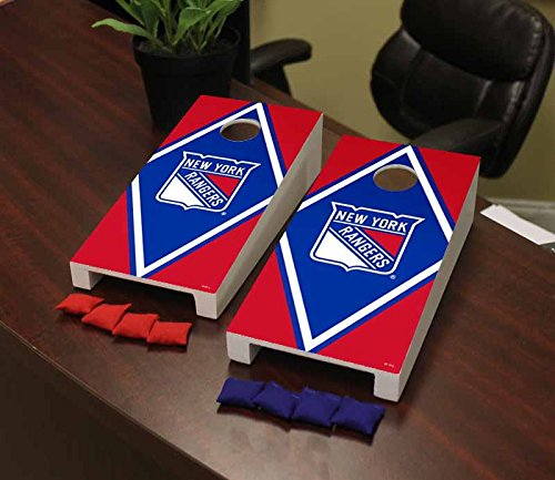 Victory Tailgate New York Rangers NHL Desktop Cornhole Game Set Diamond ()