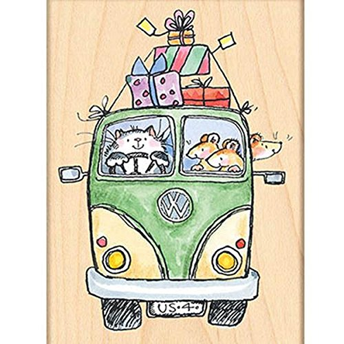 Penny Black Decorative Rubber Stamps, Party Bus Penny Black Inc. 4324K