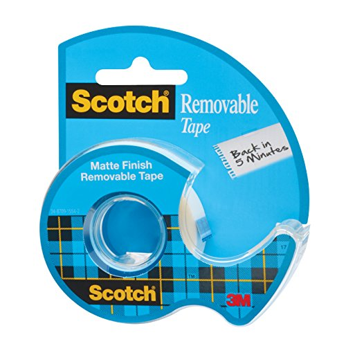 Scotch Removable Tape, 0.75 x 650 Inches (224) (Scotch Removable Tape compare prices)