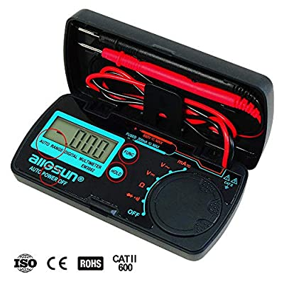 allsun Mini Digital Multimeter Pocket Automotive Tester AC DC Volt AMP OHM LCD Voltmeter Ammeter Tester Tool 1999 Counts