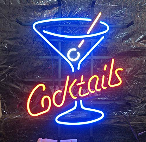 Mirsne Cocktails Martini neon Signs, Glass Tube neon Lights, 17