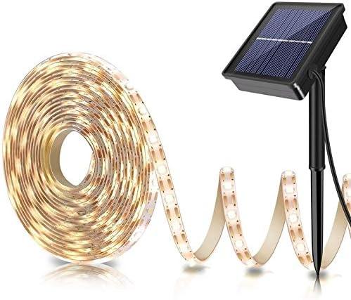 100 LEDs White Light Strip Light Solar String lights for Garden 17 m PK W8L9