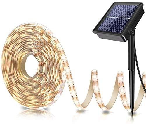 LOGUIDE Outdoor Solar LED Strip Lights
