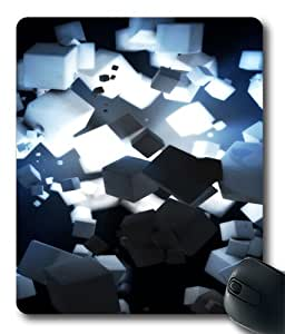 3D Cubes Rendering With Source Of Light Polycarbonate Hard Case Cover for MousePad/MouseMat