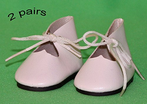 Shoes For Dolls, 2 Pairs of White Faux Leather Shoes, for sale  Delivered anywhere in USA
