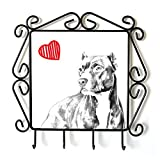 Pit Bull, Clothes Hanger with an Image of a Dog and Heart