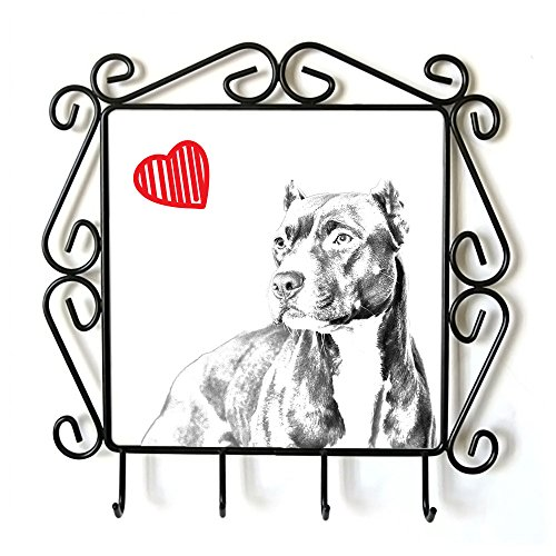Pit Bull, Clothes Hanger with an Image of a Dog and Heart by Art Dog Ltd.