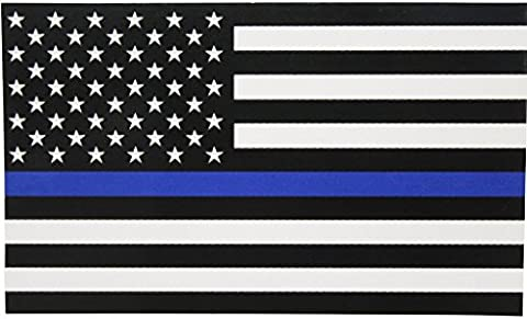 Thin Blue Line Police Lives Matter Decals Stickers(TWO PACK!!!)|Car Truck Van Wall Laptop|FULL COLOR|2-5 X 3 In (Willie Nelson Patch)
