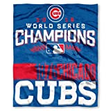 """Chicago Cubs MLB 2016 World Series Champions 50x60"""" Throw Blanket"""