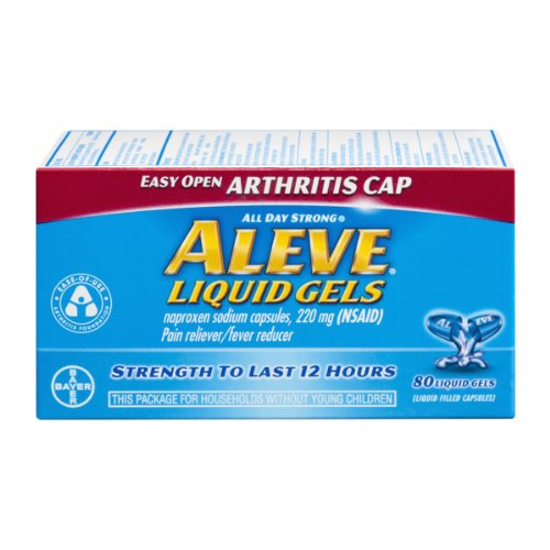 - Aleve Liquid Gels Easy Open Arthritis Cap - 80 ct, Pack of 3
