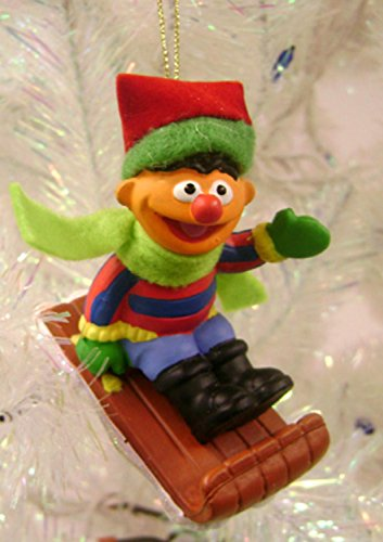Sledding Ernie Ornament