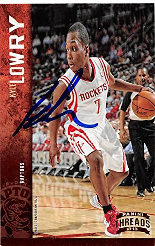 Kyle Lowry autographed Basketball Card (Houston Rockets) 2012 Panini Threads #49 - Unsigned Basketball -