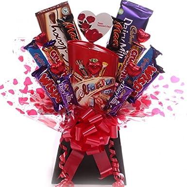 d902b5ed806f Valentine s Day chocolate bouquet with Celebrations chocolates ...