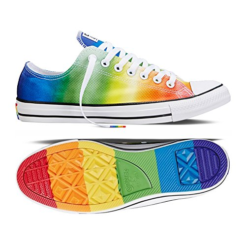 Converse Chuck Taylor All Star Pride LGBT Ox 154794C Rainbow White Unisex  Shoes e063cd524