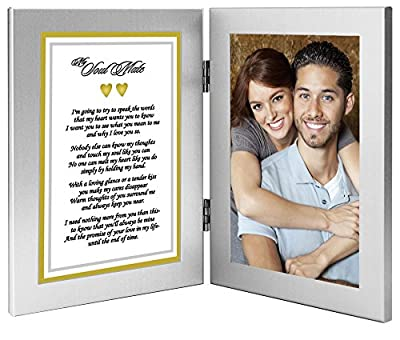 Best Anniversary, Birthday or Christmas Gift for Wife, Husband, Girlfriend or Boyfriend - Soulmate Romantic Love Poem Plus Your Cute Photo in Double Frame
