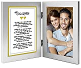 Best Anniversary or Birthday Gift for Wife, Husband, Girlfriend or Boyfriend - Soulmate Romantic Love Poem Plus Your Cute Photo in Double Frame