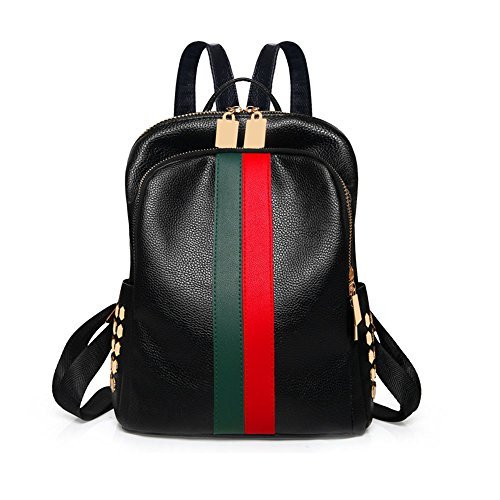 Mini Cute Backpack Purse Luxury Daypacks Bags Black PU Leather Small ipad Backpack Handbag Purse Teen Travel School Casual Bags For Women and Grils Alovhad