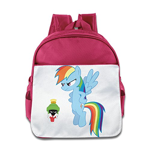 XJBD Custom Superb Anger Expression Marvin Teenager Shoulders Bag For 1-6 Years Old Pink