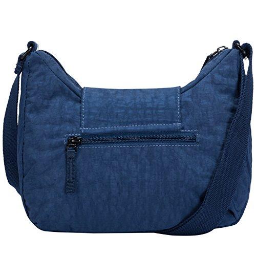Shopper chiusura con tracolla Borsa a borse Artsac scuro blu tracolla e Donna Blu con e a patta spalla wwBqzgx