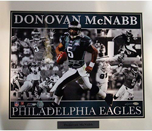 Donovan McNabb Eagles with Ghosting Matted 16x20 Collage Photo (LE/2000) - Steiner Sports Certified - Autographed NFL Photos