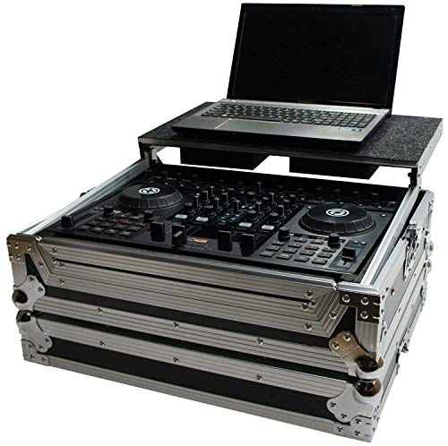 Harmony HCTKS4LT Flight Ready Glide Laptop Stand DJ Case for American Audio VMS4