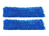 2-pack of 24'' Inch Premium Chenille Microfiber Wet Mop Pads for Professional Commercial Microfiber Mops