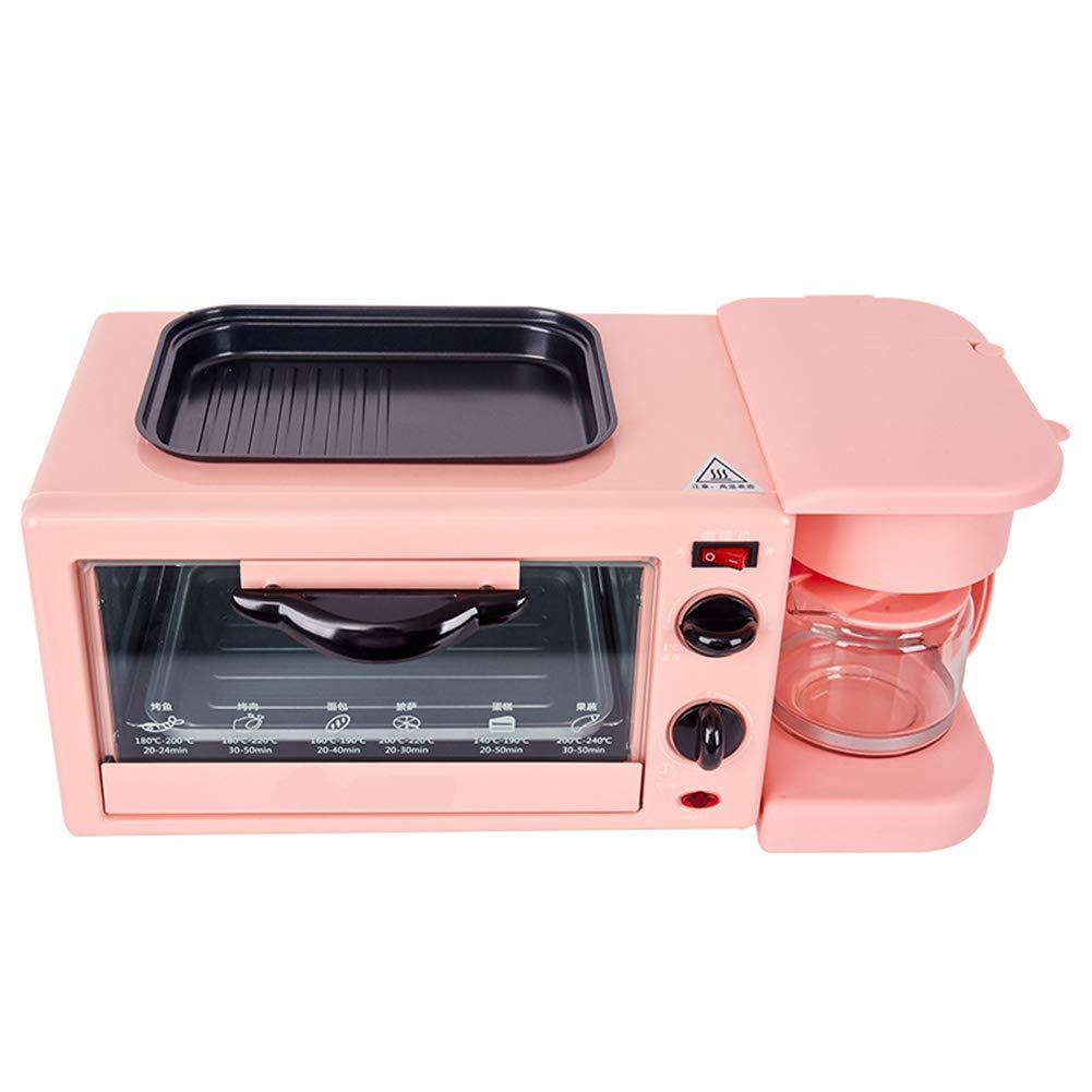 JINJN Home Multi-Function Breakfast Station Small Retro Oven Combination, Non-Stick Frying Pan, Drip Coffee Machine