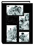 "Pioneer Collage Frame Embossed""Family"" Sewn Leatherette Cover 300 Pocket Photo Album, Black"