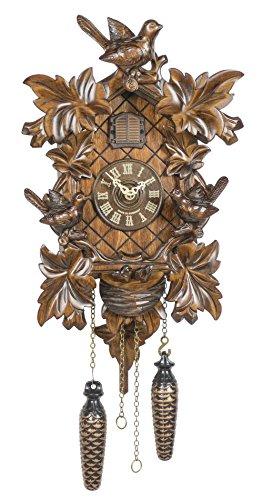 Trenkle Quartz Cuckoo Clock 6 Leaves, 3 Birds, nest TU 362 Q