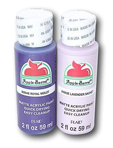 Apple Barrel Acrylic Paint Set - Royal Violet & Lavender Sachet (2 Ounces Each)