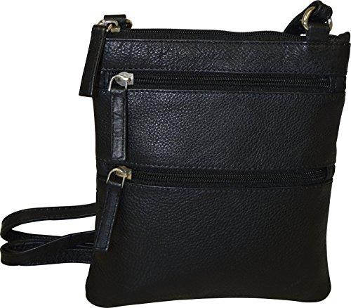 Pielino Women's Genuine Leather Crossbody Bag (Black )