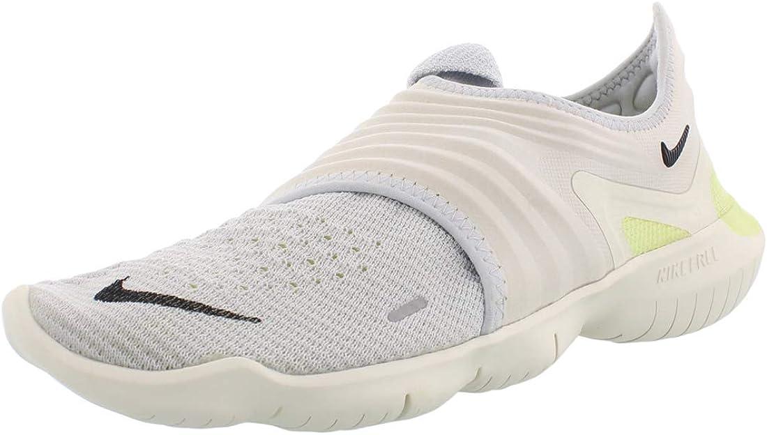 Amazon Com Nike Men S Free Rn Flyknit 3 0 Running Shoes 11 5m Platinum Black Luminous Green Road Running