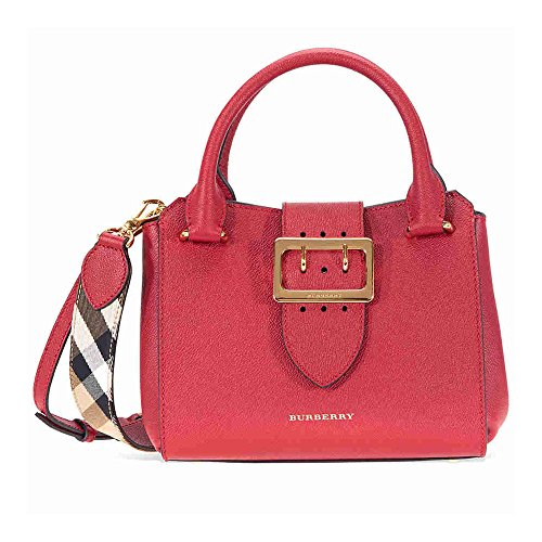 Burberry Small Buckle Tote- Parade Red