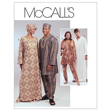 Amazon.com: McCall\'s Patterns M4002 Misses\' and Men\'s Tunics ...