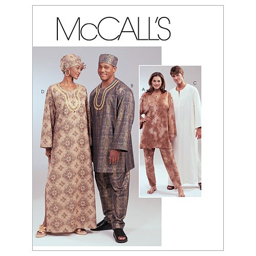 McCall's Patterns M4002 Misses' and Men's Tunics, Caftans, Pants, Lined Hat and Head-Wrap, Size Z (XLG-XXL)