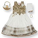 JaipurSe Baby Girls Clothing Party/Wedding/Diwali/Ethnic Wear Gown Dress Bracelet Purse Outfit